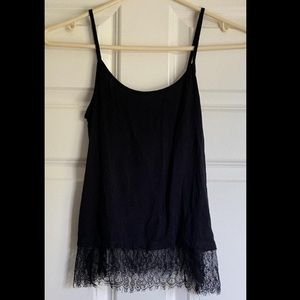Nordstrom Black Cami with Lace